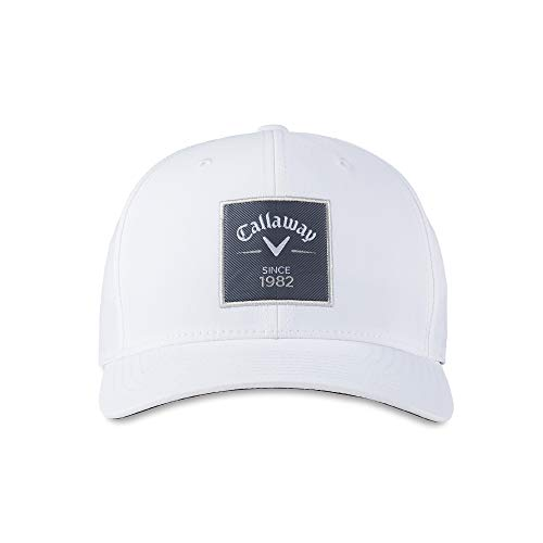 Callaway Rutherford Flexfit Snapback Hat, One Size, White
