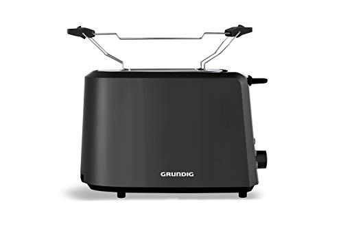 Grundig TA4620 Toaster, 850 W, 7 Bräununggradeinstellung, Kunststoff, Schwarz