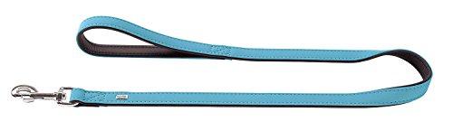 HONDER SOFTIE leiband voor honden van kunstleer, met polsband, fluweelachtige look en feel, 2,0 x 100 cm, turquoise
