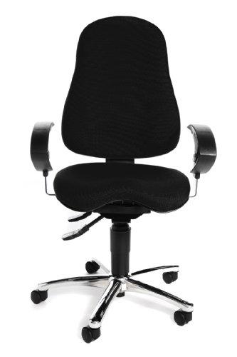 Topstar SI59UG20, Sitness 10 ergonomischer Bürostuhl, Schreibtischstuhl, inkl. höhenverstellbaren Armlehnen, Bezugsstoff schwarz