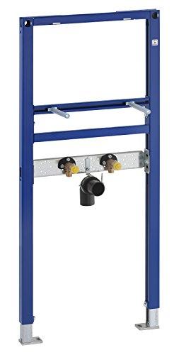 Geberit Vorwandelement Duofix, 111430001, Trockenbauelement für Waschtisch, höhen- oder tiefenverstellbare Armaturenanschlussplatte, 65191 2