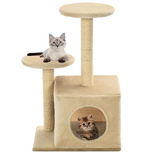 Rascador para Gatos con Poste de sisal 60 cm Beige Productos para Mascotas Productos para Mascotas Productos para Gatos Mobiliario para Gatos