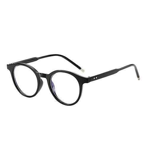Janjunsi Anti-blauw Licht Computerbrillen - Retro Ronde Blauw Licht Blokkerende Bril Heldere Lenzen Oogbescherming Brillen