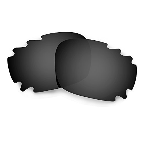 HKUCO Mens Replacement Lenses for Oakley Racing Jacket Vented Sunglasses Black Polarized