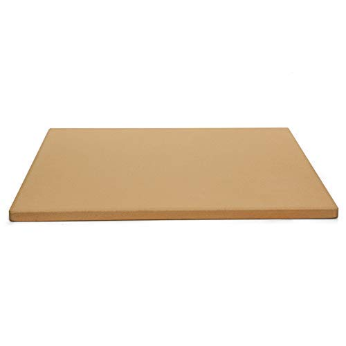 COYMOS Pizza Stone Heavy Duty Ceramic Baking Stone for use in Oven & Gril - Thermal Shock Resistant, Ideal for Baking Pizza, Bread, Cookies, Rectangular Cooking Stone 15x12 Inch. (Bonus Free Scraper)