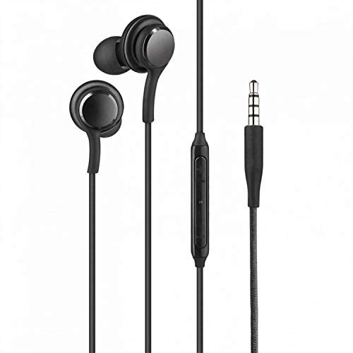 ShopMagics In-Ear Headphones Earphones for Google LG Nexus 5 Earphone Wired Stereo Deep Bass Head Hands-free Headset Earbud With Built in-line Mic, Call Answer/End Button, Music 3.5mm Aux Audio Jack (AKG4, Black)