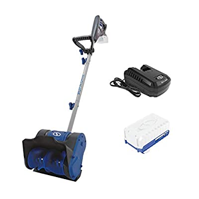 Snow Joe 24V-SS10 24-Volt iON+ Cordless Snow Shovel Kit   10-Inch   W/ 4.0-Ah Battery and Charger