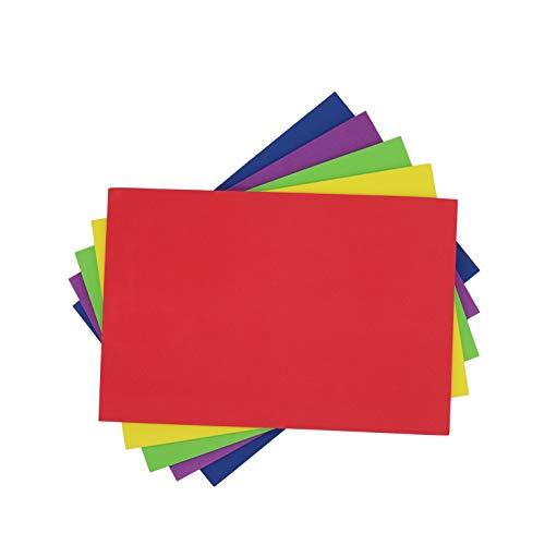 5 Hojas Goma Eva Lisas sin Adhesivo 5mm, A4 para Decorar, Diseñar y Manualidades