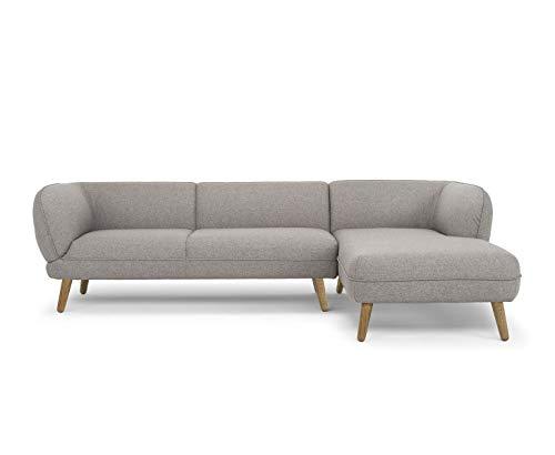 Amazon Marke -Movian Enan - 3-Sitzer Ecksofa, 266 x 86 x 73 cm, Braun