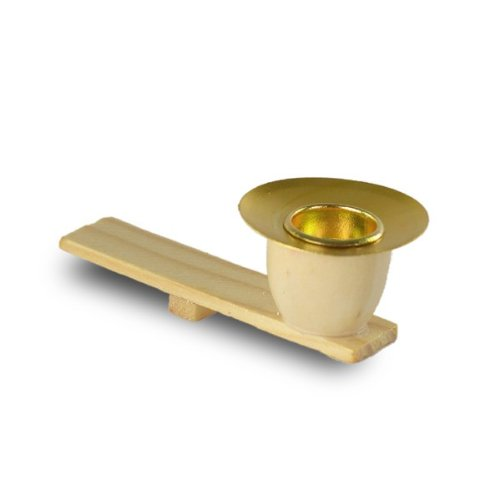 SIKORA 6er SET Ersatz Kerzenhalter für kleinere Weihnachtspyramiden aus Holz und Messing - E3