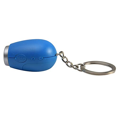 szlsl88 projectieklok sleutelhanger met tijd projectie zaklamp klok mini UV draagbare digitale projector klok nachtlicht (blauw)
