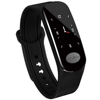 LQLQ Pulsera Elegante Pulsera de la Venda de la Aptitud para los Hombres SmartBand SmartWatch Pulsera Pulseras de Las Mujeres para Anti-Mosquito Reloj,Black