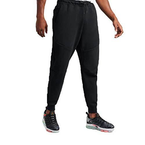 Nike M NSW TCH FLC JGGR Pantaloni Sportivi, Black/(Black), M-T Uomo