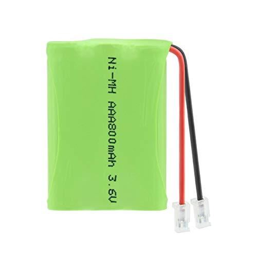 yfkjh Paquete De BateríA Recargable Ni-Mh De 3.6v 800mah 3 * AAA, Conector Universal del Grupo Recargable