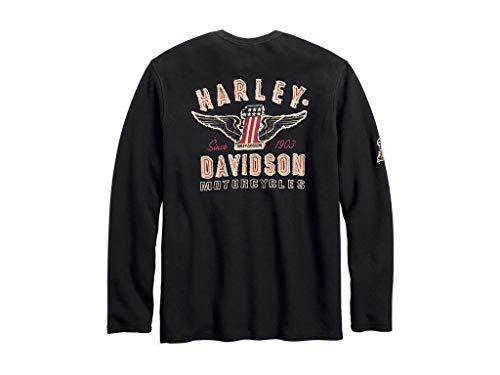 Harley-Davidson Harley-Davidson#1 Genuine Classics Henley Longsleeve, 99021-18VM, L