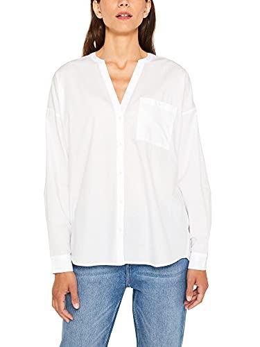 Esprit 089ee1f001s Blusa, Blanco (White 100), 38 (Talla del Fabricante: 36) para Mujer