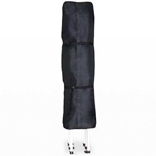 TOOLPORT PROFIZELT24 Schutzhülle für 3x6 m Pavillon Faltzelt Gartenpavillon Klappzelt Faltpavillon, in schwarz aus wasserfestem und schmutzabweisendem Oxford-Material 480 g/m²
