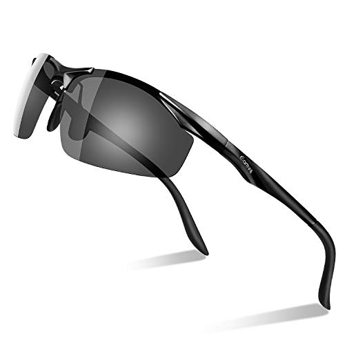 Men's Polarized Sunglasses for Men Driving Cycling Running Fishing Golf Unbreakable Metal Frame...