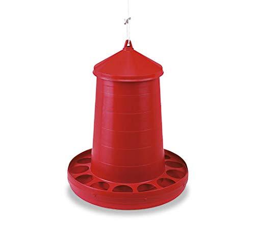 FINCA CASAREJO Comedero para gallinas con Sistema antidespilfarro en plástico Resistente (16 kg)