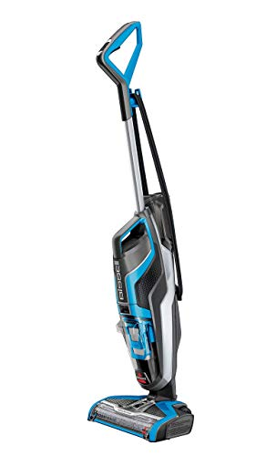 Bissell Crosswave Aspiradora escoba, 510 W, 0.82 litros, 80 Decibelios, plástico, Azul/Negro