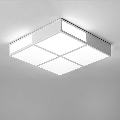 Montaje Empotrado Cuadrado 32w Led Lámpara De Techo,18' Acrílico Plafón Lámpara Pmma Dormitorio Salón Baño Pasillo-45x45cm Luz Blanca-blanca