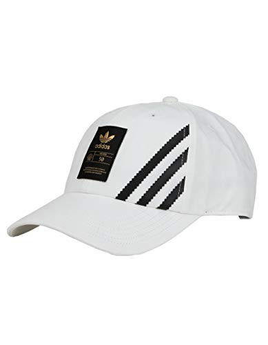 adidas Originals - Gorra de tirantes relajada, color blanco, OSFA