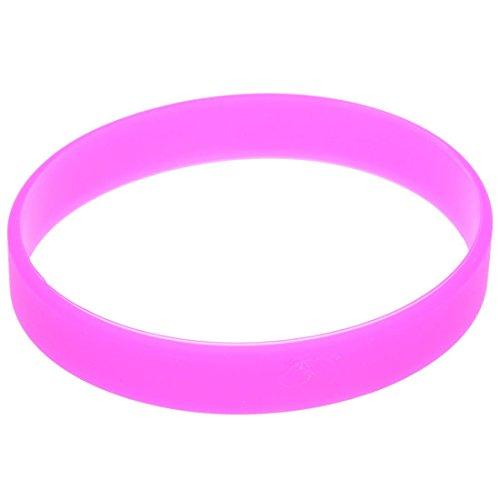 TOOGOO(R), braccialetto alla moda da polso, in gomma siliconica elastica, colore rosso rosa