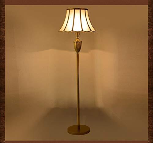 CHENXIAOJUN Lamparas de pie Cobre luz del Piso Real Fortuny clásico Retro luz del Piso del Accesorio de Noche la decoración del hogar Lámpara estándar lampara pie Salon