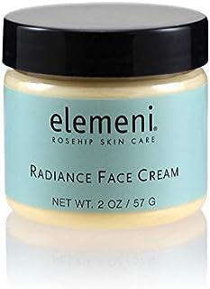 elemeni Radiance Face Cream, 2 oz, Organic Rosehip & Orange Stem Cells For Aging Gracefully, Anti-Aging Super Food Peptide...