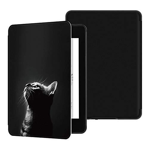 Hoesje voor Kindle Paperwhite 4 (10e generatie-2018 release, Model NO PQ94WIF) -JMH PU lederen slimme beschermhoes met…