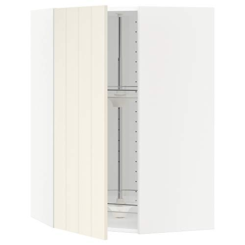 METOD armario esquinero de pared con carrusel 67,5x67,5x100 cm blanco/Hittarp blanco roto