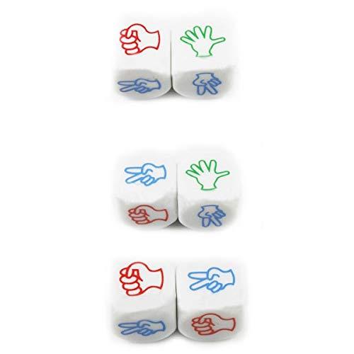 FATO. 2ST Finger-Ratespiel Dice Stein-Papier-Schere-Spiel spielt