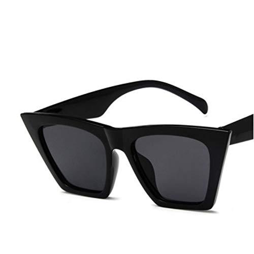 WDFDZSW 2020 Gato de la Nueva Marca Gafas de Sol vidrios Cuadrados Personalizados Ojos Gafas de Sol Coloridas Tendencia versátiles UV400 Gafas de Sol Cortina (Lenses Color : Black Frame Gray)