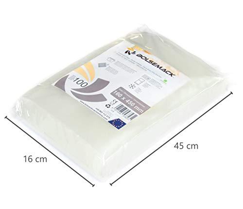 Royal Catering Sacs sous Vide Alimentaire RCVB-20X30-200 30 x 20 cm, 200 pi/èces, 105 ?m, utilisables /à Plusieurs reprises, gaufr/é//microstructure