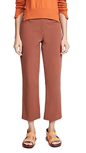 Theory Women's Crop Pants, Cognac, Brown, Tan, 2