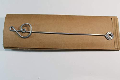 Segnalibro Chiave di Sol Argento,interamente realizzato a mano in alluminio e corredato di custodia in cartoncino,anch'essa realizzata a mano!Un pensiero semplice e di effetto!