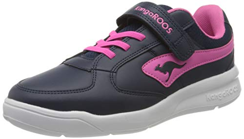 KangaROOS Unisex-Kinder K-Cope EV Sneaker, Dark Navy/Daisy Pink 4204, 31 EU