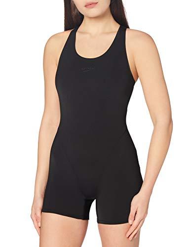 Speedo Essential Endurance+ Badeanzug Damen Sport, Schwimmanzug Damen, Sportbadeanzug Schwarz, Größe 40