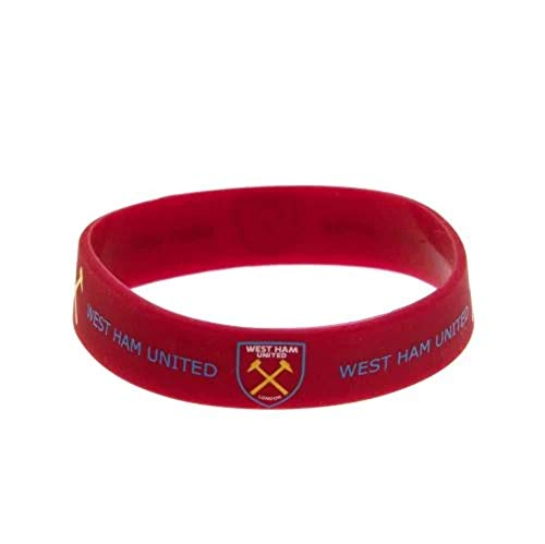 West Ham Utd FC Claret Gummy Bracelet Silicone Wristband Band Crest Official