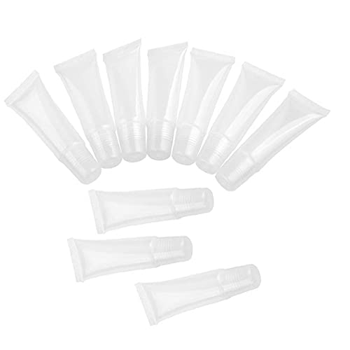 10 Pcs Tubes Vider 15ML Effacer cosmétiques Tubes en plastique Les contenants réutilisables pour le bricolage Lip Gloss Tube