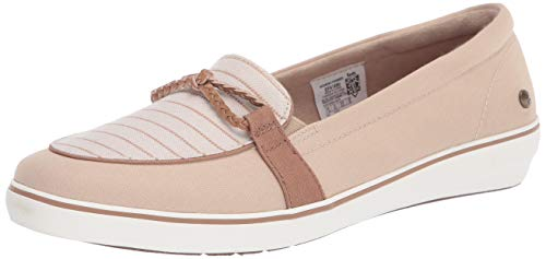Grasshoppers womens Windsor Knot Braid Denim Stripe Sneaker, Stone, 7.5 Narrow US
