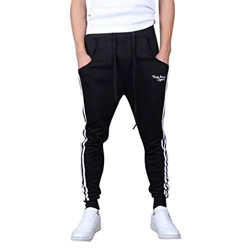 Pantalón Cuerda Casuales Deportiva Deportivos Jogging Deportes Color Sólidos Bolsillos Pantalones Casuales Elásticos BIBOKAOKE