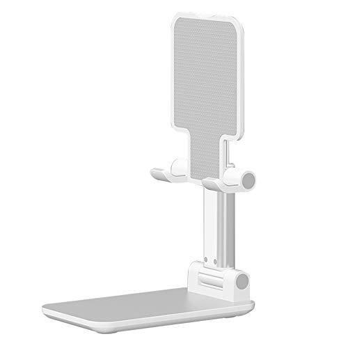 Monland Soporte para TeléFono Celular Ajustable, Soporte de Tablet Plegable Soporte de TeléFono MóVil para Galaxy X Blanco