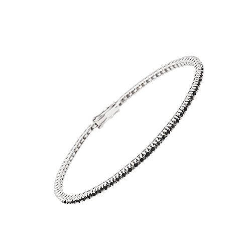 Maga Diamonds International - Bracciale Tennis elegante da Donna in Oro Bianco 18 Kt -...