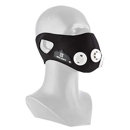 Capital Sports Breathor Training Mask Maschera per Allenamento (Simulazione Alta Quota tra 900 m e 5500 m, 7 valvole, ipoallergenica) - Taglia S