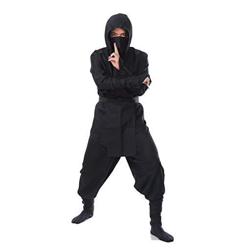 【ハイクオリティ】monoii忍者コスプレハロウィンニンジャコスチュームにんじゃ黒装束衣装和装仮装d058