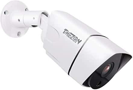 Cámara de Seguridad TMEZON Cámara de CCTV 960P con Weatherprof, visión Nocturna, Puede funcionar con el videoportero TMEZON MZ-IP-V103W, MZ-IP-V142B