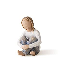 Sentiment: Nurtured by your loving care written on enclosure card 3 Inch hand-painted resin figure; ready to display on a shelf, table or mantel; to clean, dust with soft brush or cloth Child figures work well together in groupings that reflect your ...
