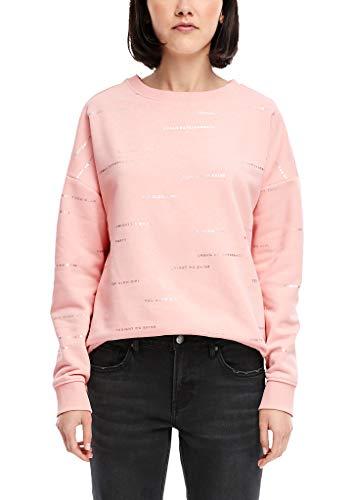 Q/S designed by - s.Oliver Damen 41.911.41.3560 Sweatshirt, Rosa (Chalk Pink AOP 40a6), 42 (Herstellergröße: XL)