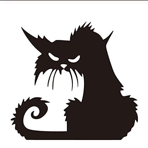Gatos De Halloween Arte De Vinilo Pegatinas De Pared Decoración Para El Hogar Calcomanías De Pared Extraíbles Papel Tapiz De Dibujos Animados Decoraciones De Pared Sala De Estar 22X20Cm